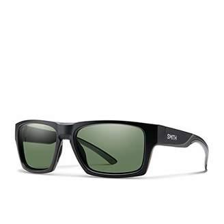 Smith Men's Outlier 2 L7 003 Sunglasses, (Matt Black/Gn Green)