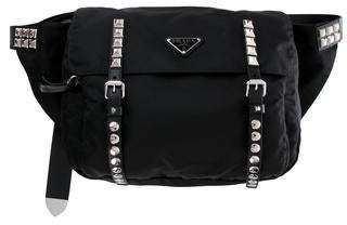 Prada 2018 Studded Tessuto Waist Bag