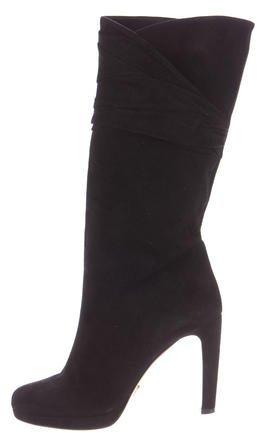 pradaPrada Ruched Suede Boots