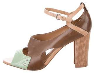 Sigerson Morrison Leather Ankle Strap Sandals