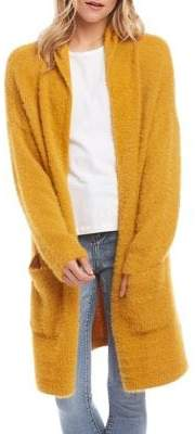 Karen Kane Relaxed -Fit Open-Front Hooded Cardigan