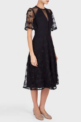 Temperley London London Haze Lace Sleeved Dress