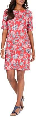 Karen Scott Printed Boat-Neck T-Shirt Dress