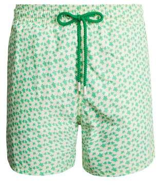 Vilebrequin - Moorea Micro Turtles Hawaï Print Swim Shorts - Mens - Green Multi