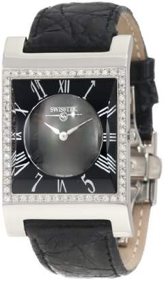 Swiss Diamond Swisstek SK57743L Limited Edition Watch With Mother-Of-Pearl Dial