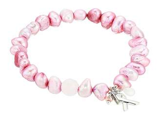 Chan Luu Pink Pearl Stretch Bracelet