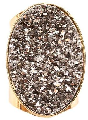Tiana Jewel - Steffy Silver Metallic Druzy Ring