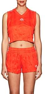 adidas by Alexander Wang Women's Crinkled Jersey Tank - Red