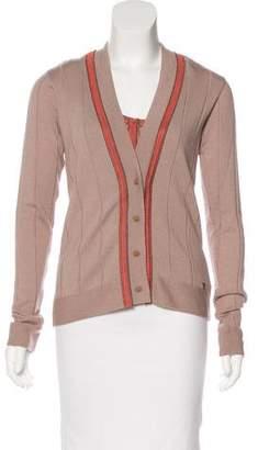 Fendi Wool-Blend Knit Cardigan