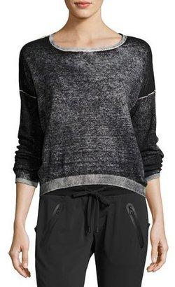 Blanc Noir Scoop-Neck Boyfriend Pullover Sweater, Black $89 thestylecure.com