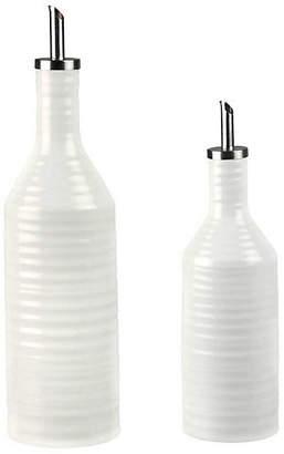 Portmeirion Set of 2 Sophie Conran Scoula Oil & Vinegar Set - White