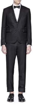 Thom Browne Wool twill tuxedo suit and bow tie set