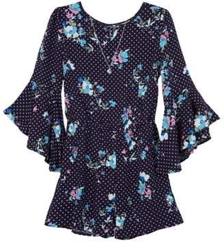 243900dae0ac Amy Byer Long Sleeve Floral Print Romper (Big Girls)