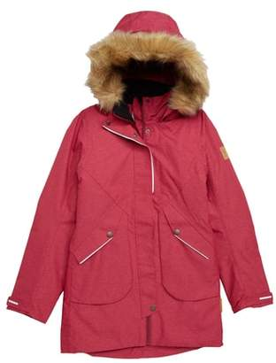 Reima Inari Reimatec(R) Waterproof Hooded Jacket with Faux Fur Trim