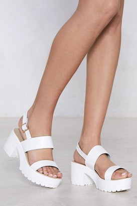 Nasty Gal Raise Hell Faux Leather Platform