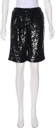 Dolce & Gabbana Sequined High-Rise Shorts w/ Tags