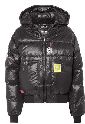 R 13 Brumal Quilted Shell Down Jacket - Black