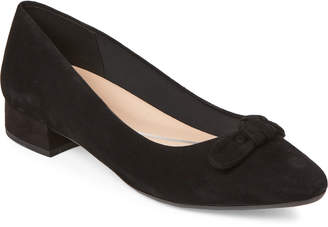 Easy Spirit Black Calasee Bow Suede Pumps