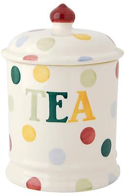 Emma Bridgewater Polka Dot Text Tea Storage Jar