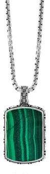 Effy 925 Sterling Silver & Malachite Pendant Necklace