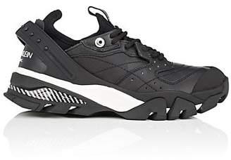 Calvin Klein Women's Rubber-Strap Leather Sneakers - Black