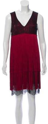Prabal Gurung Silk Fringe Cocktail Dress w/ Tags Red Silk Fringe Cocktail Dress w/ Tags