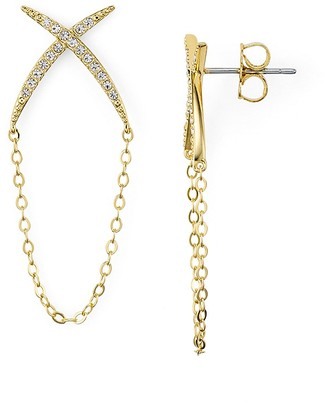 Nadri Sunset Pavé Chain Earrings $45 thestylecure.com