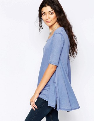 Free People Melrose T-Shirt In Periwinkle $45 thestylecure.com