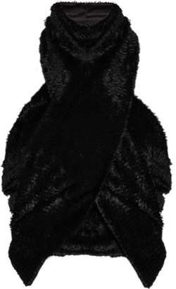 Sophie Theallet Veronica Halterneck Textured Velvet Top - Womens - Black
