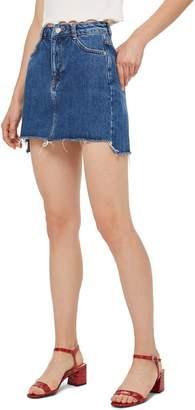 Topshop Step Hem Denim Skirt