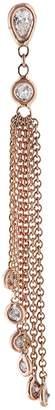 Jacquie Aiche Teardrop Diamond Tassel Stud Single Earring - Rose Gold