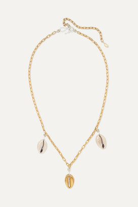 WALD Berlin - How Hi Gold-plated Shell Necklace