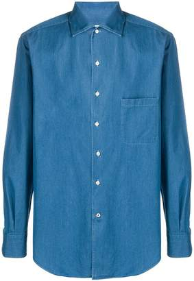 Loro Piana chest pocket chambray shirt