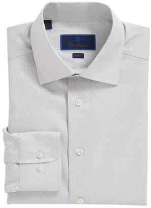David Donahue Slim Fit Dot Dress Shirt