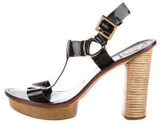 Tory Burch Patent Leather T-Strap Sandals