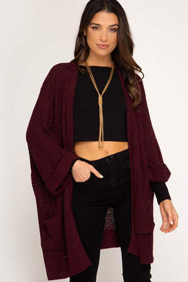 Factory Unknown Open Front Cardigan