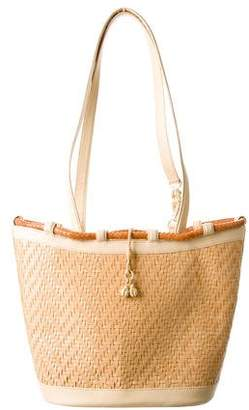 Kieselstein-Cord Woven Leather Tote