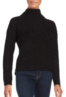 French Connection Long Sleeve Wool-Blend Sweater