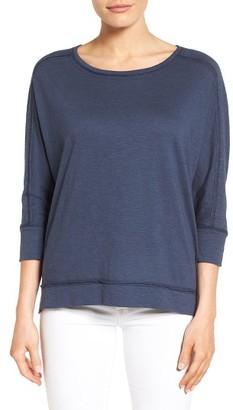 Women's Caslon Dolman Sleeve Slub Knit Tee $39 thestylecure.com