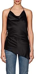 Juan Carlos Obando Women's Silk Charmeuse Halter Top - Black