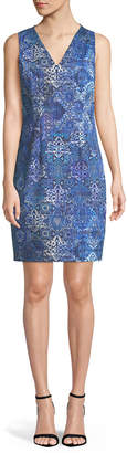 Elie Tahari Emory Graphic-Print Sleeveless Dress