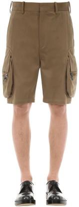 Neil Barrett Cotton Blend Cargo Shorts