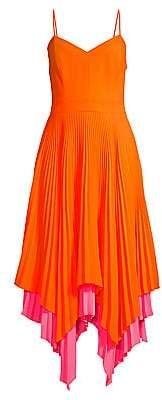 Milly Women's Jillian Pleated Handkerchief Hem Dress - Size 0