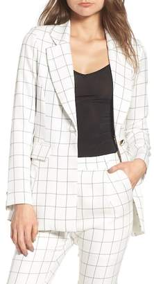 J.o.a. Chriselle x Plaid Blazer