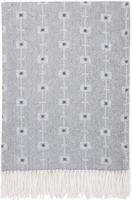 Petunia Pickle Bottom Southwest Skies Luxury Baby Blanket with Fringe, Blue/Gray/White