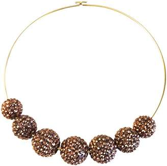 Kenneth Jay Lane 7 PAVE COPPER CRYSTAL BEADS ON WIRE-ALSO: