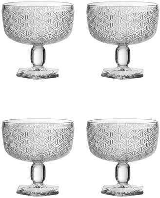 Jay Import Bistro Key Clear Pedestal Bowl - Set of 4