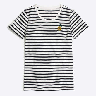 J.Crew Factory Pineapple stripe collector T-shirt