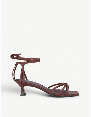 Atelier Manu Lace low-heeled leather sandals