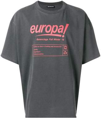 Balenciaga Europa! print T-shirt